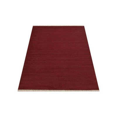 Coturnix Hand-Woven Dark Red Area Rug Rug Size: Rectangle�7 x 9