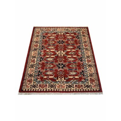 Corrin Hand-Woven Red/Cream Area Rug Rug Size: Rectangle�6 x 9