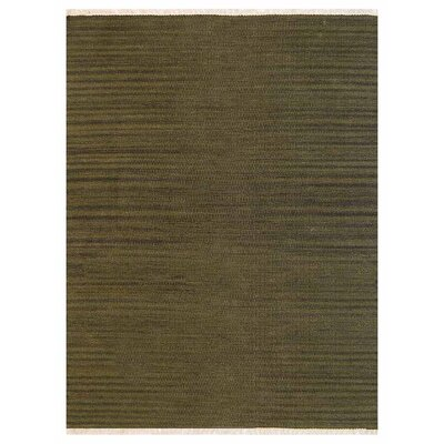 Creede Hand-Woven Olive Area Rug Rug Size: Rectangle�3 x 5