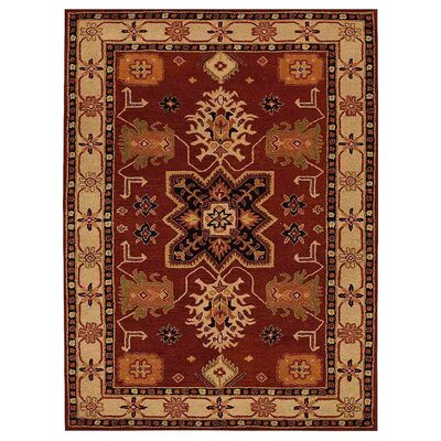 Corsica Vintage Hand-Tufted Red/Cream Area Rug