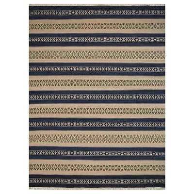 Melbourne Hand-Woven Aqua/Cream Area Rug Rug Size: Rectangle�3 x 5