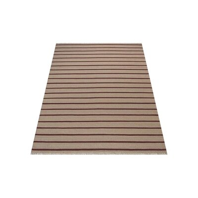 Donora Hand-Woven Cream/Red Area Rug Rug Size: Rectangle�7 x 9