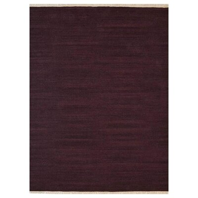 Corydon Hand-Woven Plum Area Rug Rug Size: Rectangle�3 x 5