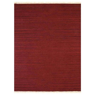 Costa Mesa Hand-Woven Burgundy Area Rug Rug Size: Rectangle�5 x 8