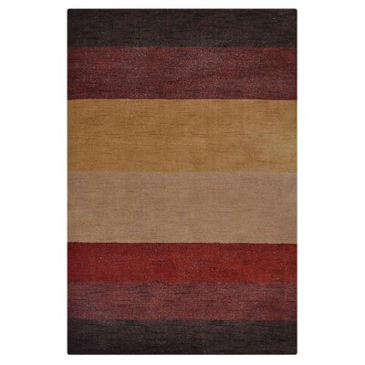 Courbevoie Hand-Knotted Wool Brown/Yellow Area Rug Rug Size: 6 7 X 9 10