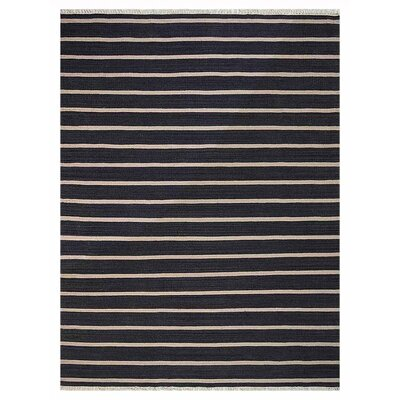 Reyes Hand-Woven Charcoal/Cream Area Rug Rug Size: Rectangle�3' x 5'