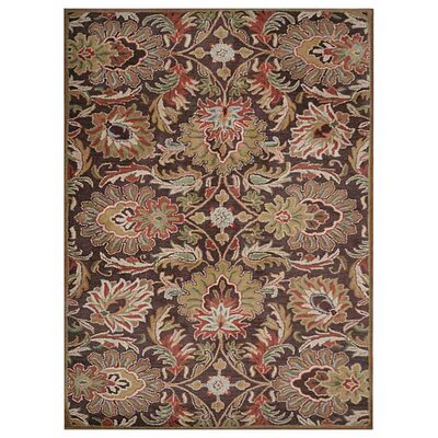 Murray Hill Floral Hand-Woven Brown Area Rug Rug Size: Rectangle�8 x 10