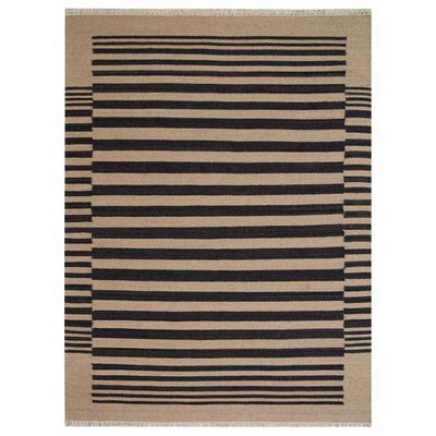 Reynosa Hand-Woven Wool Cream/Charcoal Area Rug Rug Size: Rectangle�4' x 6'