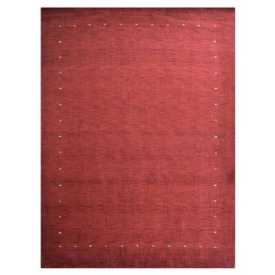 Coyote Ridge Hand-Knotted Wool Red Area Rug Rug Size: 6 x 9