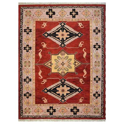 Corrin Hand-Woven Red/Beige Area Rug Rug Size: Rectangle 8 x 10