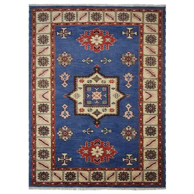 Corrin Hand-Woven Aqua/White Area Rug Rug Size: Rectangle 6 x 9