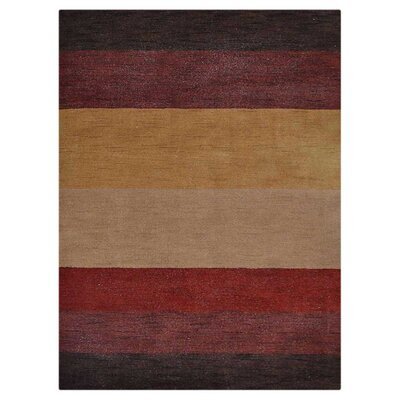Courbevoie Hand-Knotted Wool Brown/Yellow Area Rug Rug Size: 8 x 10