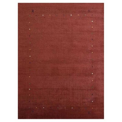 Crannell Hand-Knotted Wool Red Area Rug Rug Size: 8 x 10