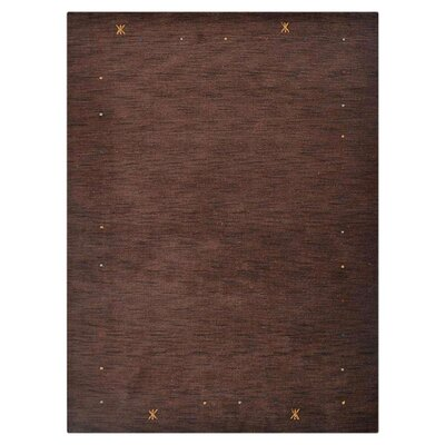 Cozette Hand-Knotted Wool Brown Area Rug Rug Size: 6 x 9