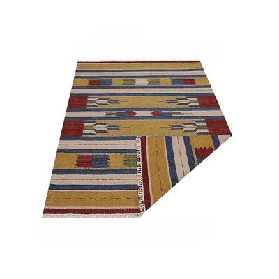 Clairan Hand-Woven Brown/Blue Area Rug Rug Size: Rectangle�4 x 6