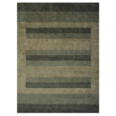 Stavros Hand-Woven Wool Green/Beige Area Rug Rug Size: Rectangle 67 x 910