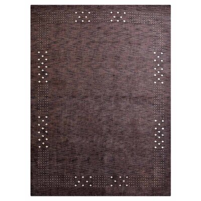 Craybrough Hand-Woven Wool Brown Area Rug Rug Size: Rectangle 8 x 11