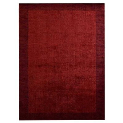 Darion Hand-Knotted Wool Red Area Rug Rug Size: 8 x 10