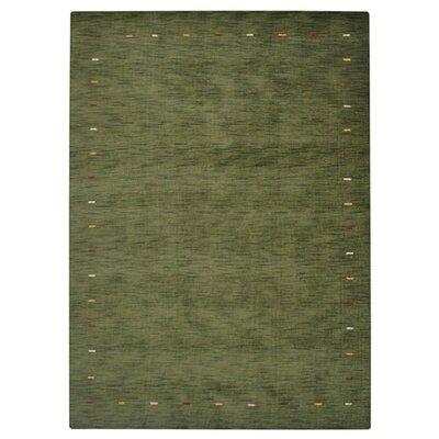 Covina Hand-Knotted Wool Green Area Rug Rug Size: 8 x 11
