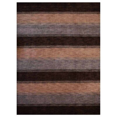 Ry Hand-Woven Wool Brown/Beige Area Rug Rug Size: Rectangle 9 x 12