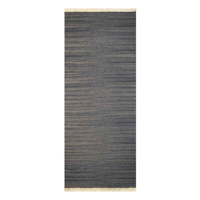 Corwin Hand-Woven Wool Silver Area Rug Rug Size: Runner 2'6