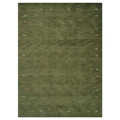 Covina Hand-Knotted Wool Green Area Rug Rug Size: 8 x 10