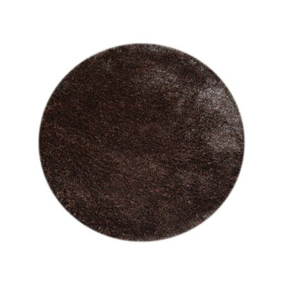 Abinash Hand-Tufted Brown Area Rug Rug Size: Round 8 x 8