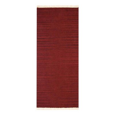 Costa Mesa Hand-Woven Burgundy Area Rug Rug Size: Runner 26 x 10