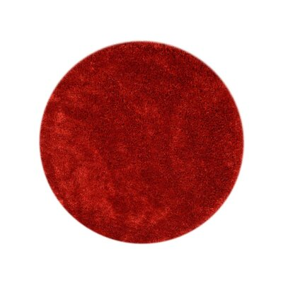 Sophy Hand-Tufted Red Area Rug Rug Size: Round 10 x 10