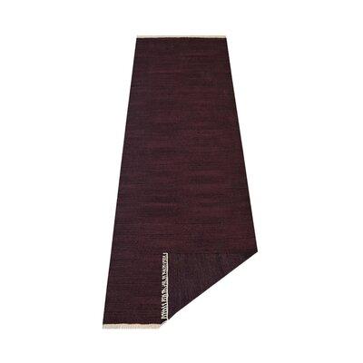 Corydon Hand-Woven Plum Area Rug Rug Size: Runner 2'6