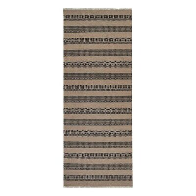 Reyer H-Woven Charcoal Area Rug Rug Size: Runner 26 x 6