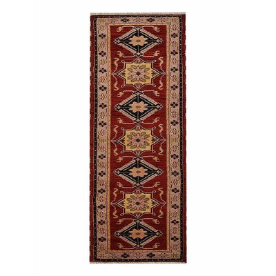 Corrin Hand-Woven Red/Beige Area Rug Rug Size: Runner 26 x 10