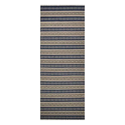 Melbourne Hand-Woven Wool Aqua/Cream Area Rug Rug Size: Runner 26 x 12