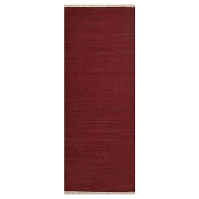 Coturnix Hand-Woven Dark Red Area Rug Rug Size: Runner 26 x 12