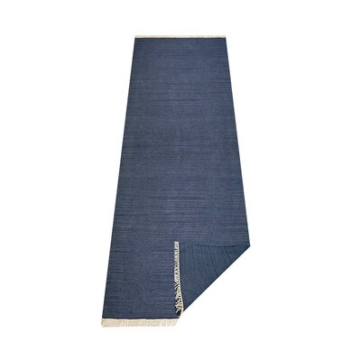 Andover Hand-Woven Blue Area Rug Rug Size: Runner 26 x 10