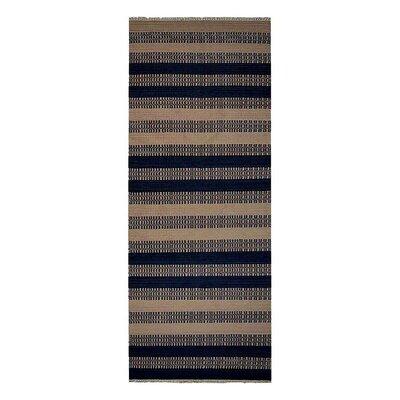Sacramento Hand-Woven Wool Aqua/Cream Area Rug Rug Size: Runner 3 x 13