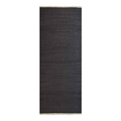 Corte Madera Hand-Woven Charcoal Area Rug Rug Size: Runner 26 x 6