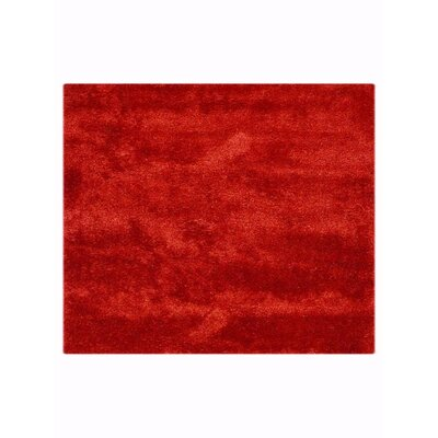 Sophy Hand-Woven Red Area Rug Rug Size: Square�10