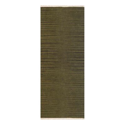 Creede Hand-Woven Olive Area Rug Rug Size: Runner 26 x 6