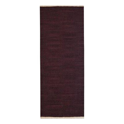 Corydon Hand-Woven Wool Plum Area Rug Rug Size: Runner 2'6