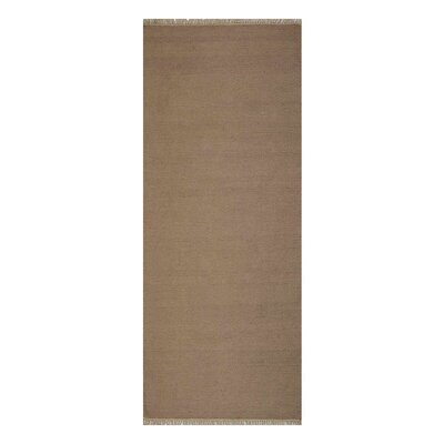 Corto Hand-Woven Cream Area Rug Rug Size: Runner 26 x 6