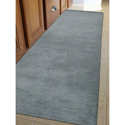 Riggio Hand-Knotted Wool Gray Area Rug Rug Size: Runner 28 x 10