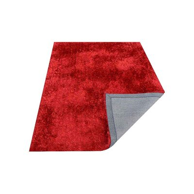 Predmore Hand-Tufted Red Area Rug Rug Size: Rectangle 8 x 10