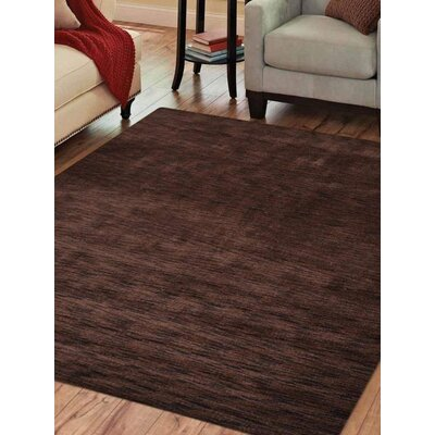 Riggio Hand-Knotted Wool Brown Area Rug Rug Size: Square 10 x 10