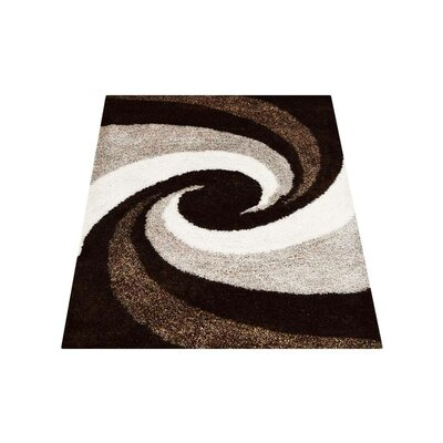 Predmore Contemporary Hand-Tufted Brown/Beige Area Rug Rug Size: Rectangle 6 x 9