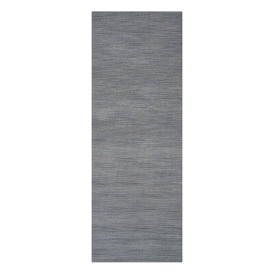 Riggio Hand-Knotted Wool Gray Area Rug Rug Size: Rectangle 5 x 8
