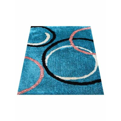 Predmore Hand-Tufted Blue Area Rug Rug Size: Rectangle 5 x 8