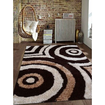 Predmore Hand-Tufted Beige/Brown Area Rug Rug Size: Rectangle 5 x 8