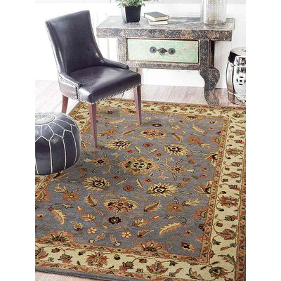 Thor Vintage Hand-Tufted Wool Blue/Cream Area Rug Rug Size: Rectangle 10 x 13