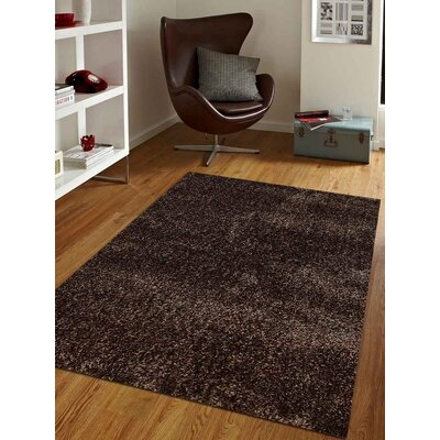 Predmore Hand-Tufted Brown Area Rug Rug Size: Rectangle 4 x 6